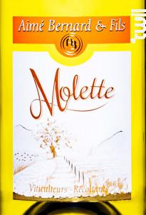 Molette - Aimé Bernard & Fils - 2019 - Blanc