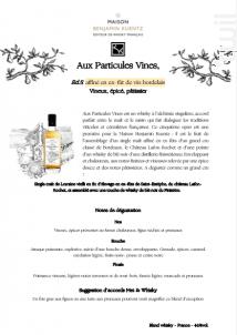 Aux Particules Vines #5 affiné en ex-fût de vin bordelais - Maison Benjamin Kuentz - Non millésimé - Blanc