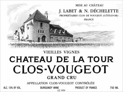 Clos Vougeot Grand Cru Vieilles Vignes - Château de la Tour - 2016 - Rouge