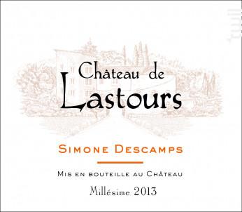 Château de Lastours - Simone Descamps - Château de Lastours - 2014 - Rouge
