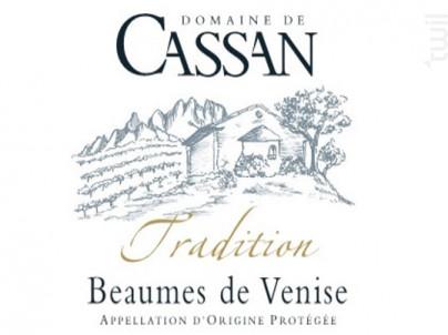 Tradition - Domaine de Cassan - 2015 - Rouge