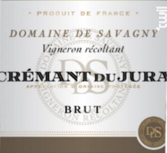 Crémant blanc - DOMAINE DE SAVAGNY - Non millésimé - Effervescent