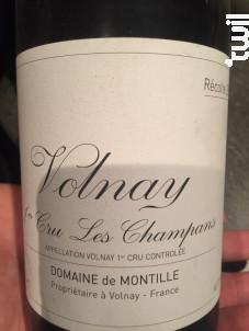 Volnay 1er Cru - Les Champans - Domaine de Montille - 2015 - Rouge