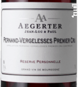 Pernand-Vergelesses 1er Cru - Jean Luc et Paul Aegerter - 2015 - Rouge
