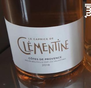 Le Caprice de Clémentine - Château les Valentines - 2018 - Rosé