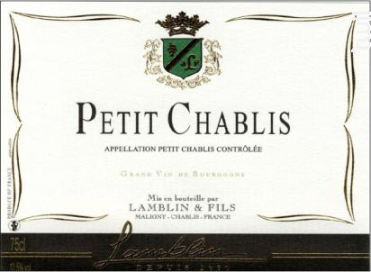 Petit Chablis - Michel Lamblin et Fils - 2017 - Blanc