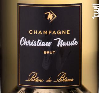 Brut Blanc de Blancs - Champagne Christian Naudé - 2014 - Effervescent