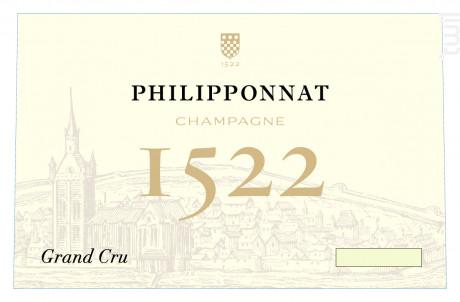 Cuvée 1522 Grand Cru Brut Millésimé - Champagne Philipponnat - 2013 - Effervescent