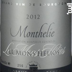 MONTHELIE 1er cru Le Mons Helios - Domaine Florent Garaudet - 2016 - Rouge