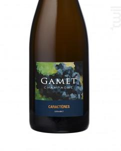 Caractères - Extra Brut - Champagne Gamet - Non millésimé - Effervescent