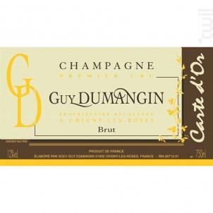 Brut Carte D'or 1er Cru - Champagne Guy Dumangin - Non millésimé - Effervescent