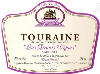 Cuvée Les Grands-Vignes - Domaine Thierry Besard - 2011 - Rouge