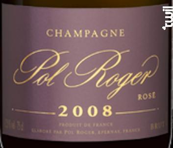 Cuvée Rosé Brut Millésimé - Champagne Pol Roger - 2008 - Effervescent