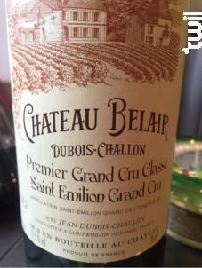Château Belair - Château de Bel-Air - Bordeaux - 2002 - Rouge