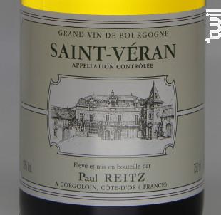 Saint Véran - Maison Paul Reitz - 2017 - Blanc