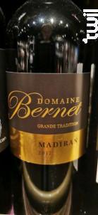 Madiran Grande Tradition - Domaine Bernet - 2017 - Rouge