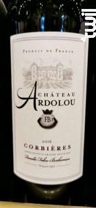 Corbières  Château Ardolou - Château Ardolou - 2016 - Rouge