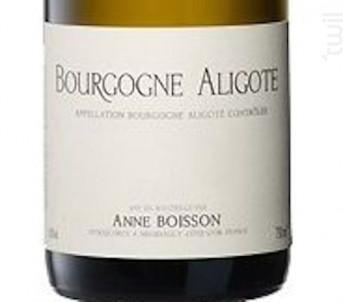 BOURGOGNE ALIGOTE - Domaine Boisson-Vadot, Anne, Bernard et Pierre - 2016 - Blanc