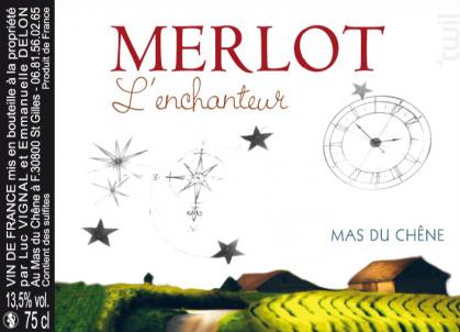 Merlot l'enchanteur - Mas du Chêne - 2016 - Rouge