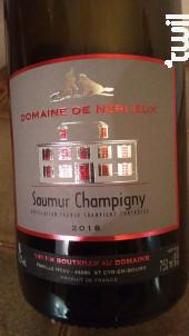 Saumur Champigny - Les Nerleux - Domaine de Nerleux - 2018 - Rouge