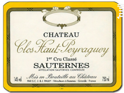 Château Clos Haut Peyraguey - Château Clos Haut Peyraguey - 2004 - Blanc