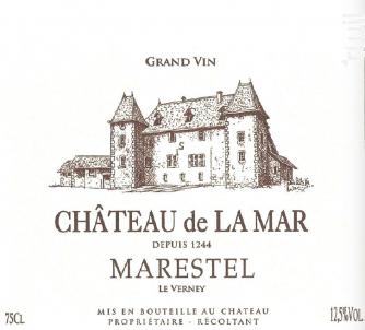 Marestel Le Verney - Chateau de la Mar - 2017 - Blanc