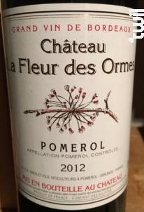 Château la Fleur des Ormes - Château la Fleur des Ormes - 2014 - Rouge