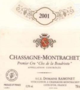 CHASSAGNE MONTRACHET LA BOUDRIOTTE - Domaine Ramonet - 2015 - Rouge