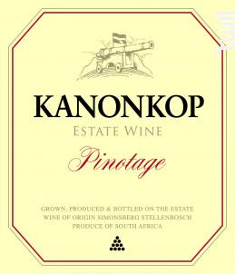 Pinotage - KANONKOP - 2009 - Rouge