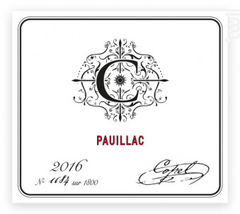 Pauillac - Copel Wines - 2016 - Rouge