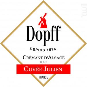 Crémant d'Alsace Cuvée Julien - Brut - Dopff Au Moulin - Non millésimé - Effervescent