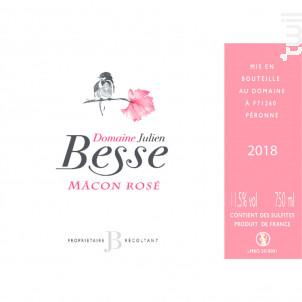 Mâcon Rosé - Domaine Julien Besse - 2018 - Rosé