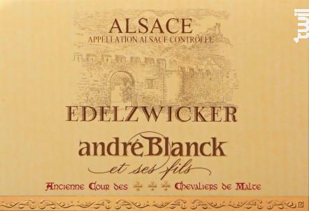 Edelzwicker - André Blanck & Fils - 2017 - Blanc