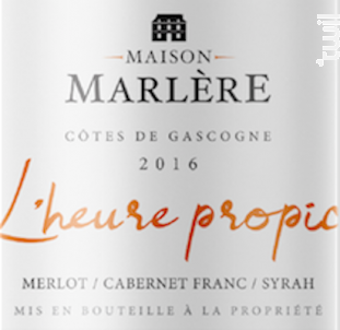 Heure propice - Maison Marlère - 2018 - Rouge