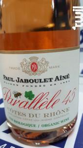 Parallèle 45 BIO - Paul Jaboulet Aîné - 2018 - Rouge