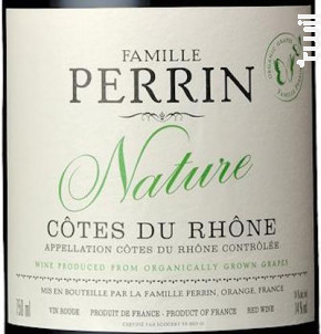 Nature - Famille Perrin - 2018 - Rouge