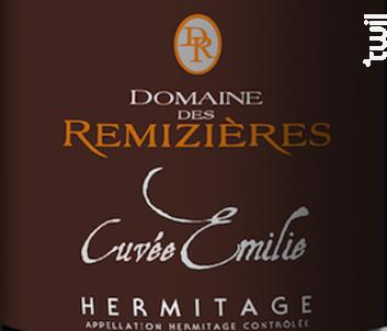 Cuvée Emilie - Domaine des Remizières - 2018 - Rouge