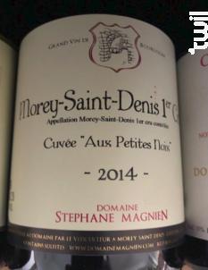 Morey-Saint-Denis 1er Cru - Aux petites Noix - Domaine Stéphane Magnien - 2014 - Rouge
