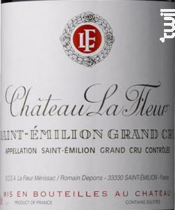 Château La Fleur - Château La Fleur (St Emilion) - 2015 - Rouge