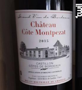 Château Côte Montpezat - Vignobles Bessineau- Château Côte Montpezat - 2015 - Rouge