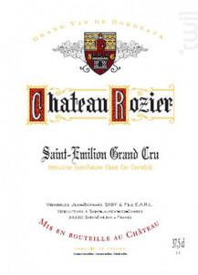 Château Rozier - Vignoble Saby - 2013 - Rouge