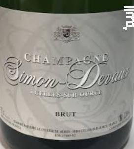 Brut - Champagne Simon Devaux - Non millésimé - Effervescent