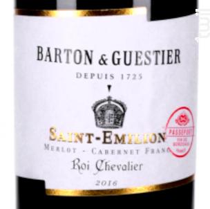 Passeport Saint-emilion Roi Chevalier - Barton & Guestier - 2016 - Rouge
