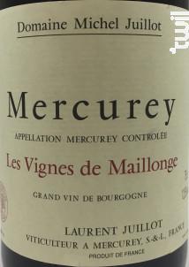 Mercurey Les Vignes de Maillonge - Domaine Michel Juillot - 2017 - Rouge
