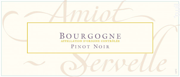 Bourgone - Domaine Amiot-Servelle - 2016 - Rouge