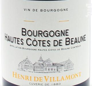 Bourgogne Hautes-Côtes-de-Beaune - Henri de Villamont - 2018 - Rouge