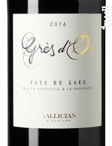 Grès d'Or - La Cave de Gallician - 2016 - Rouge
