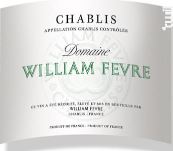 Chablis - Domaine William Fevre - 2018 - Blanc