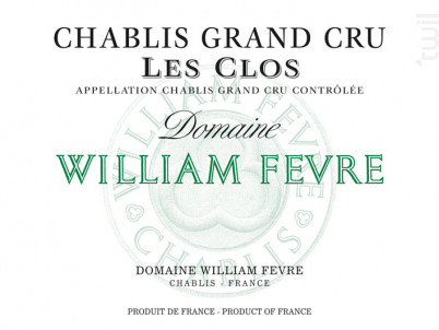 Chablis Grand Cru - Les Clos - Domaine William Fevre - 2013 - Blanc