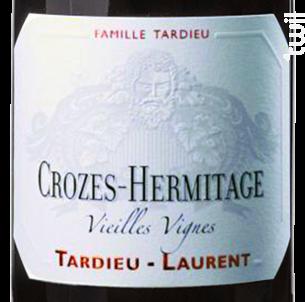Crozes-Hermitage Vieilles Vignes - Maison Tardieu Laurent - 2017 - Rouge